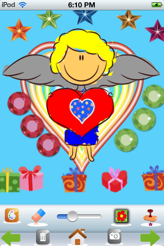 Screenshot A Valentine's Day Coloring App